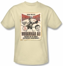 Muhammad Ali T-shirt Adult Rumble Poster 2 Cream Tee Shirt
