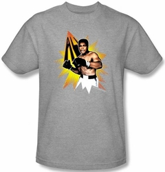 Muhammad Ali T-shirt Adult Power Punch Athletic Heather Tee Shirt