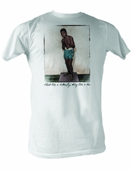 Muhammad Ali T-shirt Adult Before I Knew White Tee Shirt
