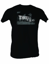 Muhammad Ali T-shirt Adult Thrilla In Manila Black Tee Shirt
