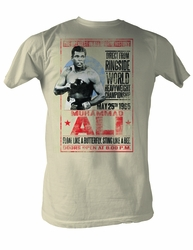 Muhammad Ali Shirt 1965 Poster Dirty White Tee T-Shirt