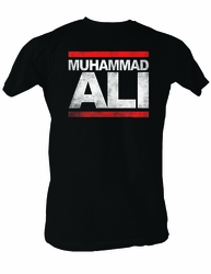 Muhammad Ali T-shirt Adult Run Ali Black Tee Shirt