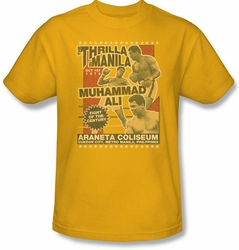Muhammad Ali Thrilla in Manilla Shirt - Adult Gold Tee