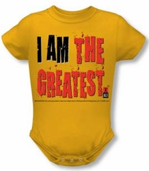Muhammad Ali Baby Romper Infant Creeper The Greatest Gold