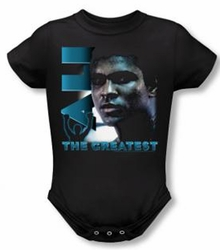 Muhammad Ali Baby Romper Infant Creeper Sweat Equity Black
