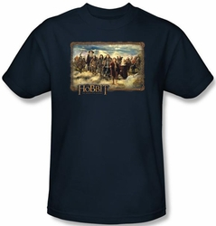 The Hobbit Shirt Movie Unexpected Journey Adult Navy Tee T-shirt