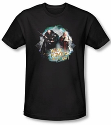 The Hobbit Shirt Movie Unexpected Journey We're Fighters Black Adult