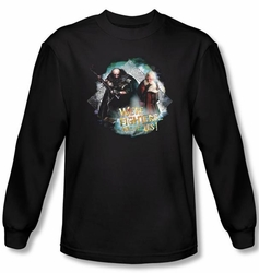 Hobbit Shirt Movie Unexpected Journey We're Fighters Black Long Sleeve