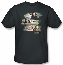 Hobbit Shirt Movie Unexpected Journey Loyalty Honour Charcoal Adult