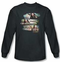 Hobbit Shirt Unexpected Journey Loyalty Honour Charcoal Long Sleeve