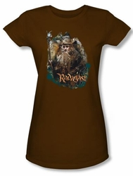 Hobbit Juniors Shirt Movie Unexpected Journey Loyalty Radagast Brown