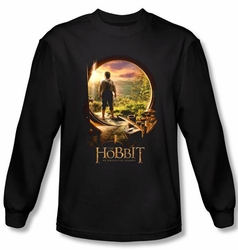 Hobbit Shirt Unexpected Journey Loyalty Door Black Long Sleeve Tee