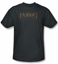 Hobbit Shirt Movie Unexpected Journey Loyalty Logo Charcoal Adult Tee