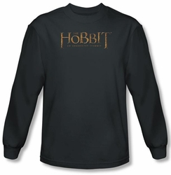 Hobbit Shirt Unexpected Journey Loyalty Logo Charcoal Long Sleeve Tee