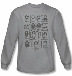 Hobbit Shirt Unexpected Journey Loyalty Company Silver Long Sleeve Tee