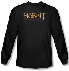 Hobbit Shirt Unexpected Journey Loyalty Logo Black Long Sleeve Tee