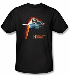 Hobbit Shirt Movie Unexpected Journey Loyalty Fire Black Adult Tee