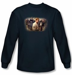 The Hobbit Shirt Movie Unexpected Journey Rally Navy Long Sleeve Tee