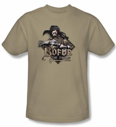 The Hobbit Kids Shirt Movie Unexpected Journey Bofur Sand Tee T-shirt