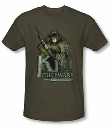 The Hobbit Shirt Movie Unexpected Journey Kili Green Slim Fit Tee