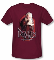 The Hobbit Shirt Movie Unexpected Journey Balin Cardinal Slim Fit Tee