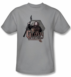 The Hobbit Shirt Movie Unexpected Journey Gloin Adult Silver T-shirt