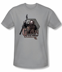 The Hobbit Shirt Movie Unexpected Journey Gloin Silver Slim Fit Tee