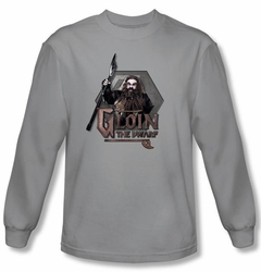 The Hobbit Shirt Movie Unexpected Journey Gloin Silver Long Sleeve