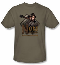 The Hobbit Shirt Movie Unexpected Journey Nori Adult Green T-shirt