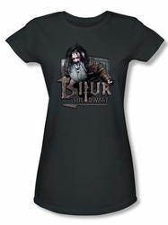 The Hobbit Juniors Shirt Movie Unexpected Journey Bifur Charcoal Tee