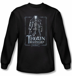 The Hobbit Shirt Movie Unexpected Journey Thorin Black Long Sleeve