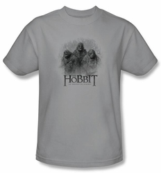 The Hobbit Shirt Movie Unexpected Journey 3 Trolls Adult Silver Tee