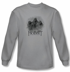 The Hobbit Shirt Movie Unexpected Journey 3 Trolls Silver Long Sleeve