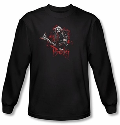 The Hobbit Shirt Movie Unexpected Journey Bolg Black Long Sleeve Tee