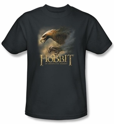 The Hobbit Shirt Movie Unexpected Journey Eagle Adult Charcoal Tee