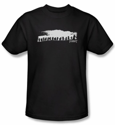 The Hobbit Shirt Movie Unexpected Journey Company Adult Black Tee