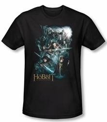 The Hobbit Shirt Movie Unexpected Journey Adventure Black Slim Fit Tee