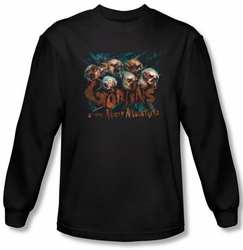 Hobbit Shirt Movie Unexpected Journey Misty Goblin Black Long Sleeve