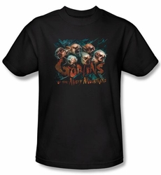 The Hobbit Kids Shirt Movie Unexpected Journey Misty Goblin Black Tee