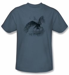 The Hobbit Shirt Movie Unexpected Journey Great Eagle Adult Slate Tee