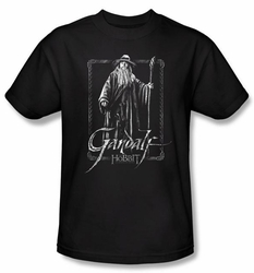 The Hobbit Shirt Movie Unexpected Journey Gandalf Adult Black Tee
