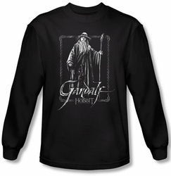 The Hobbit Shirt Movie Unexpected Journey Gandalf Black Long Sleeve