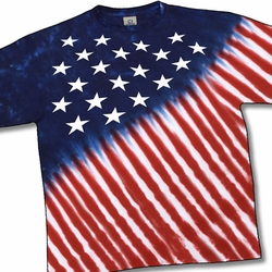 Tie Dye T-shirt - Stars And Stripes Adult Tee