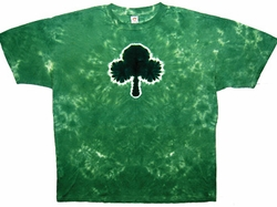 Tie Dye T-shirt - Sundog Irish Shamrock Green Tee