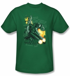 Axe Cop T-Shirt � Wexter Comic Book Kelly Green Adult Tee Shirt