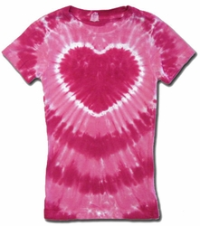 Kids Tie Dye T-shirt - Sundog Girls Pink Heart Tee