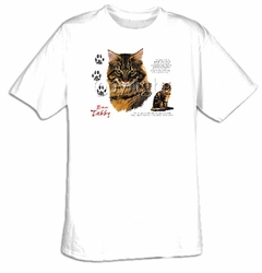 Brown Tabby T-shirt - Cat Profile Adult Tee Shirt