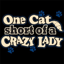 Funny Cat T-shirt - One Cat Short Adult Tee
