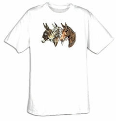 Donkey T-shirt - Three of a Kind Donkeys Wildlife Adult Tee