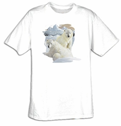 Polar Bear T-shirt - Polar Bear Cubs Wildlife Tee